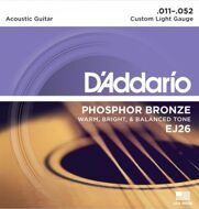 Струны D'Addario EJ26 Phosphor Bronze Custom Light 11-52