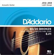 Струны D`Addario EJ11 80/20 Bronze Light 12-53
